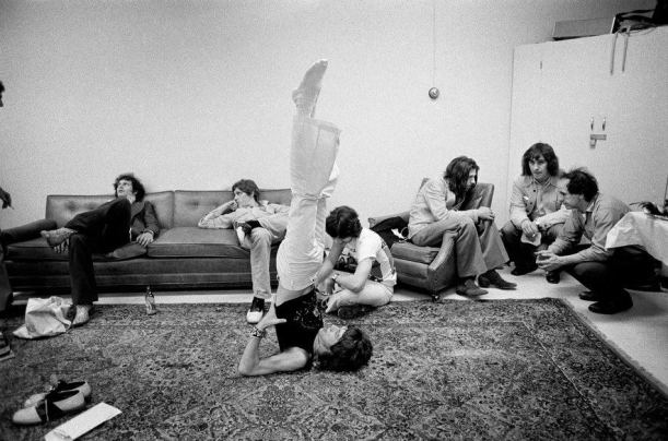 Photo by Jim Marshall during 1972 Rolling Stones tour